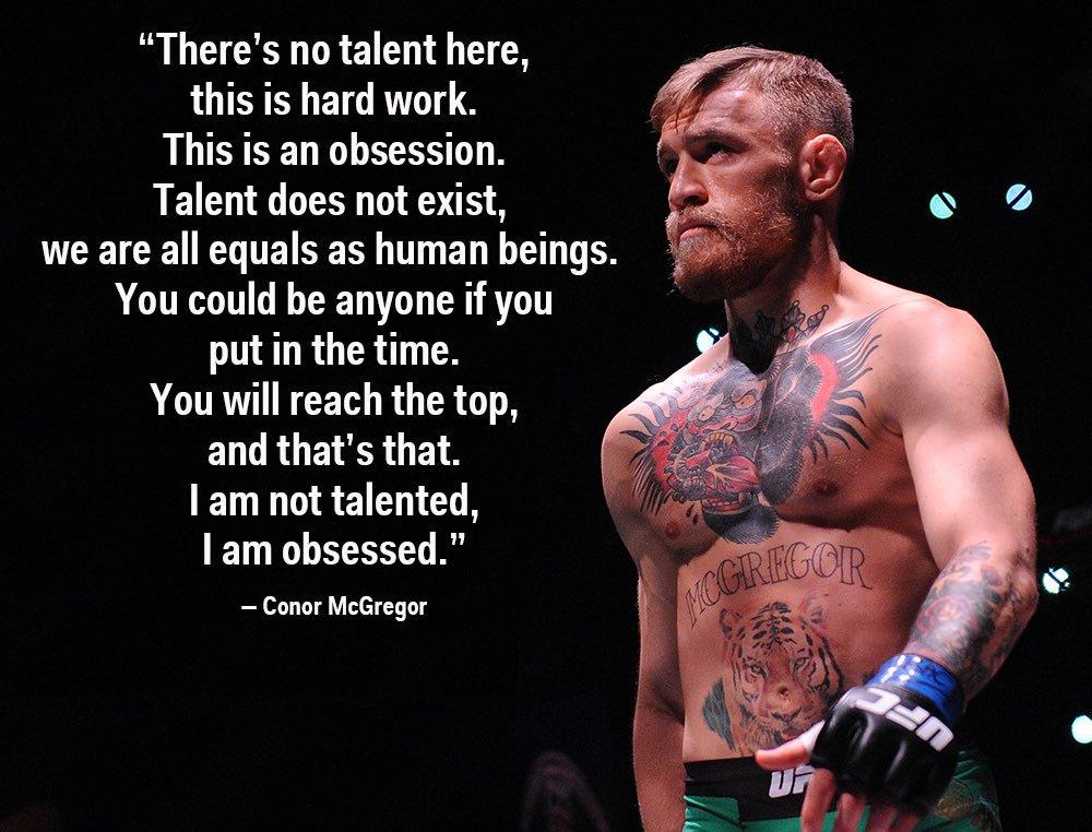 conor mcgregor on talent
